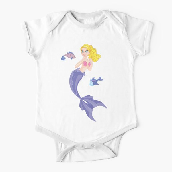 Little Cute Princess Mermaid Baby Onesie
