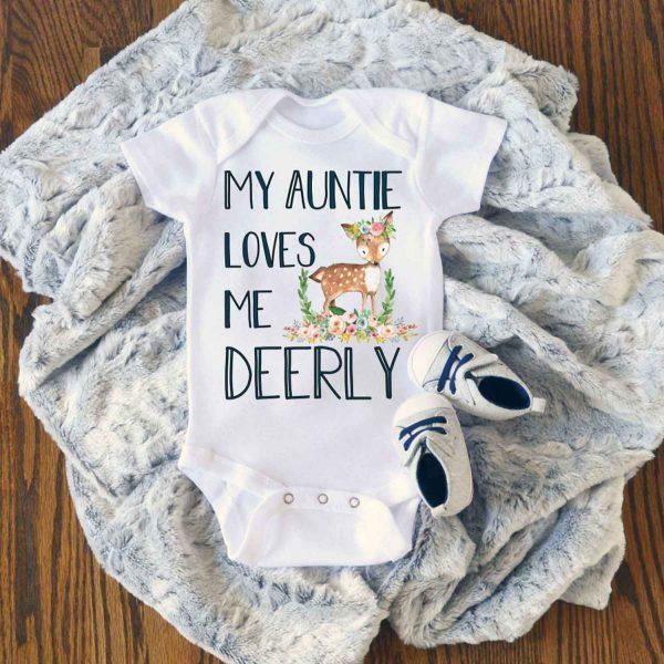 My Aunt Loves Me Deerly Baby Onesie