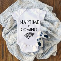 Natime is Coming Game Of Thrones Baby Onesie