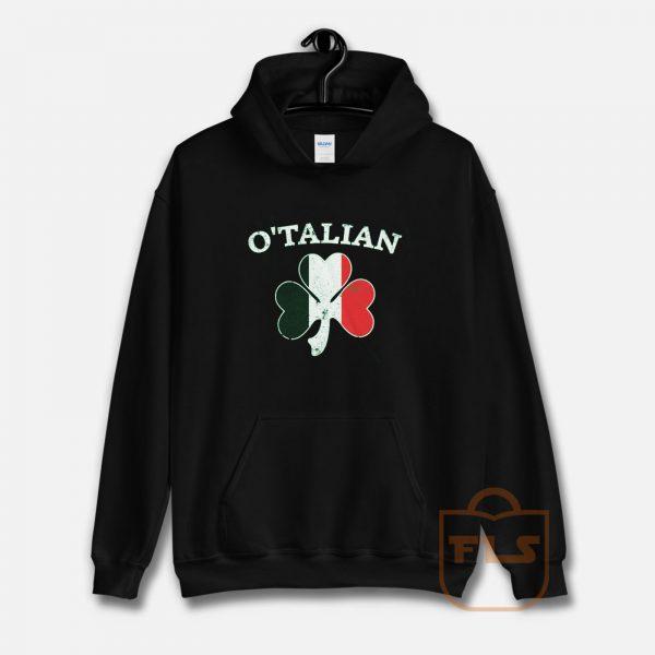 O'Talian Italian Irish Shamrock Hoodie