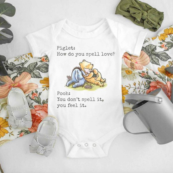 Piglet and Pooh How Do You Spell Love Baby Onesie