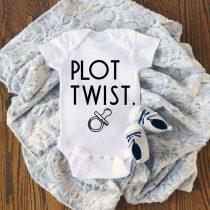Plot Twist Pregnancy Announcement Baby Onesie