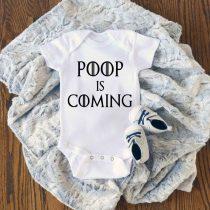 Poop is Coming Game Of Thrones Baby Onesie