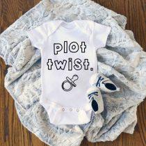 Pregnancy Reveal Plot Twist Baby Onesie