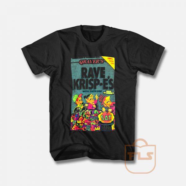 Rave Krispies Rave 90s rave flyers T Shirt