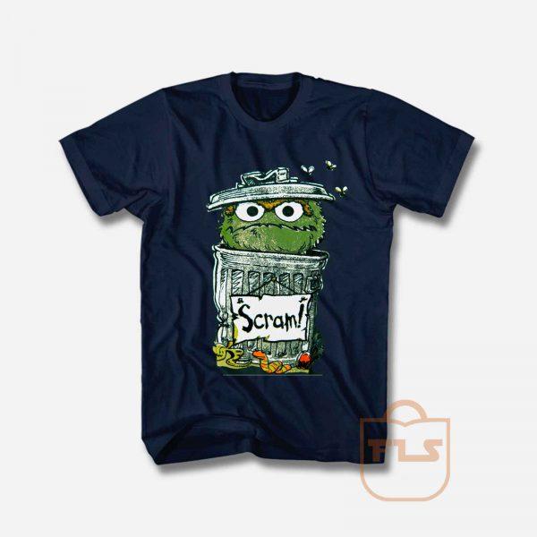 Sesame Street Oscar the Grouch Scram T Shirt
