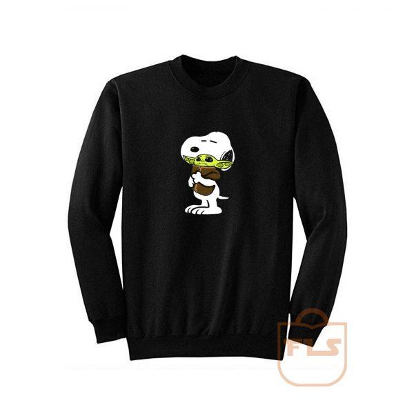 Snoopy Hug Baby Yoda Sweatshirt