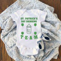 St Patricks Day Drinking Team Baby Onesie