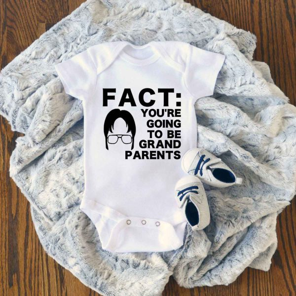 THE OFFICE FACT Youre Going to be Grandparents Baby Onesie
