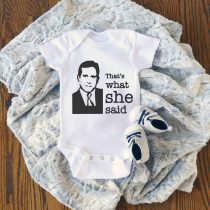 THE OFFICE Thats What She Said Baby Onesie