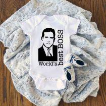 THE OFFICE Worlds Best Boss Baby Onesie