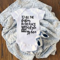 To All The Babies Rap Lyric Baby Onesie