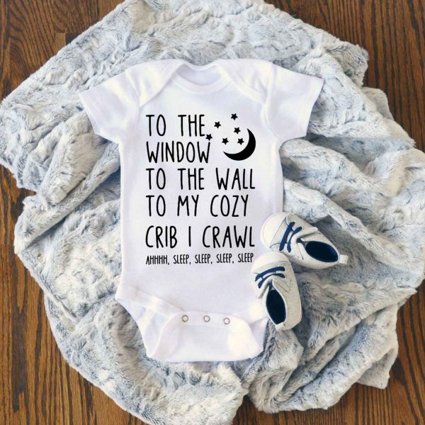 To The Window To the Wall Baby Onesie