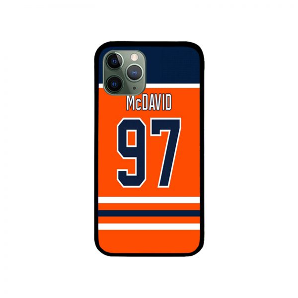 Edmonton Oilers Connor McDavid Home Jersey Back iPhone Case