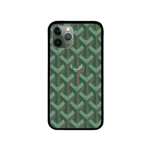 Green Goyard iPhone Case