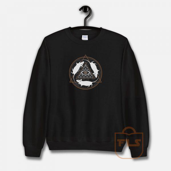 Rat Wheel Iluminati Sweatshirt