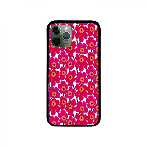 Red Flower Print iPhone Case