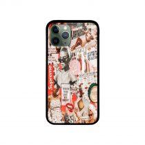 Red Retro Magazine Collage iPhone Case