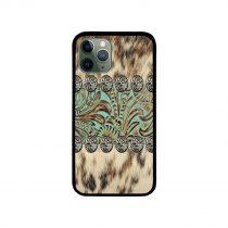 Rustic brown cowhide iPhone Case