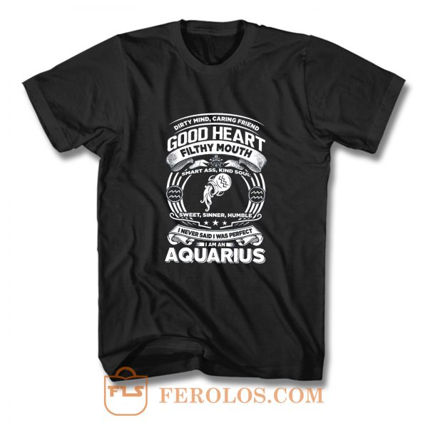 Aquarius Good Heart Filthy Mount T Shirt