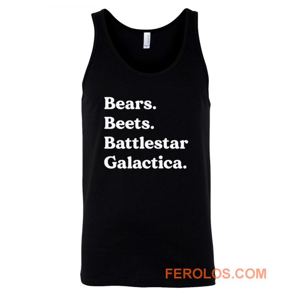 Bears Beets Battlestar Galactica The Office Tank Top
