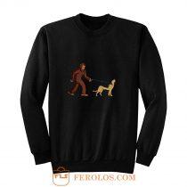 Bigfoot Walking German Shepherd Sweatshirt
