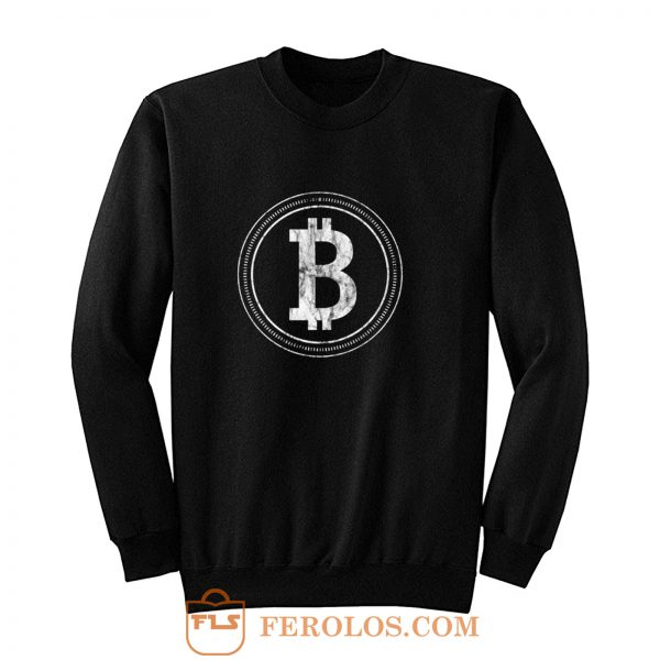 Bitcoin Blockchain Cryptocurrency Electronic Cash Mining Digital Gold Log In Sweatshirt