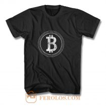 Bitcoin Blockchain Cryptocurrency Electronic Cash Mining Digital Gold Log In T Shirt