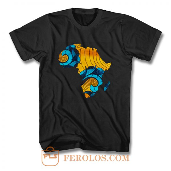 Black Pride Melanin Map Of Africa T Shirt