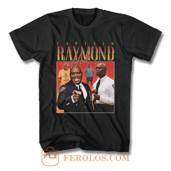 Captain Raymond Holt Homage Vintage TV Show T Shirt