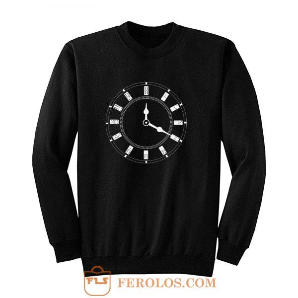Domino Clock Dominoes Tiles Puzzler Game Sweatshirt