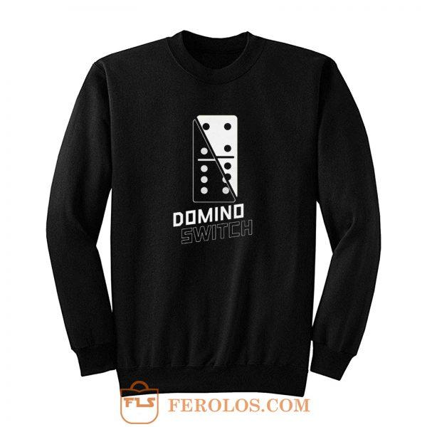 Domino Switch Dominoes Tiles Puzzler Game Sweatshirt