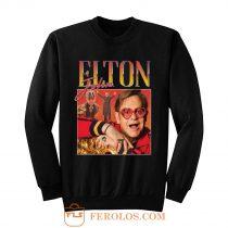 Elton John Homage Vintage Music Sweatshirt