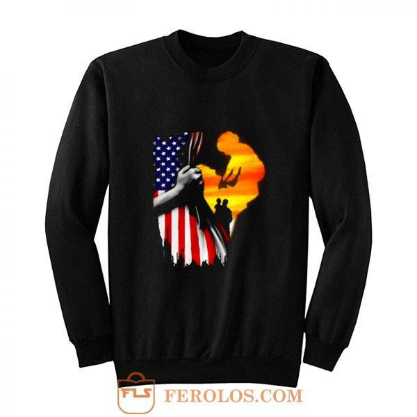 Father and son Usa Flag Sweatshirt