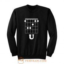 Funny Hidden Message Guitar Sweatshirt