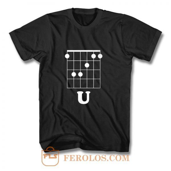 Funny Hidden Message Guitar T Shirt