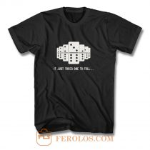 It Just Takes One To Fall Tiles Puzzler Game T Shirt