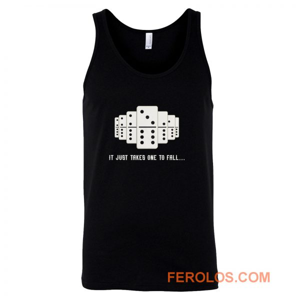 It Just Takes One To Fall Tiles Puzzler Game Tank Top