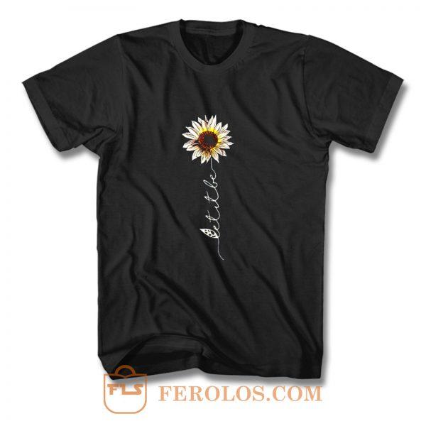 Let It Be Hippie Flower T Shirt