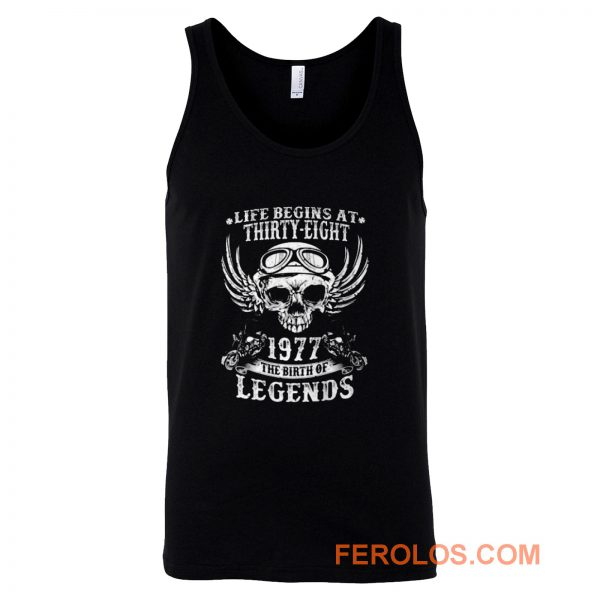 Life Begins At Thirty Eight 1977 Legends Tank Top
