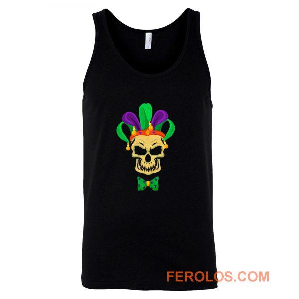 Mardi Gras Skull Party Carnival Festival Mask Tank Top