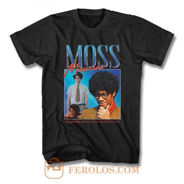 Moss Maurice Homage Nerd Geek T Shirt