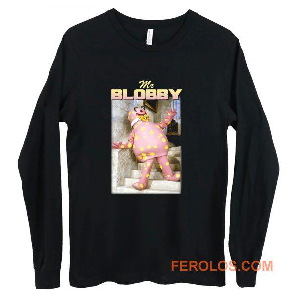 Mr Blobby Retro Homage Long Sleeve