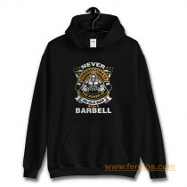 Never Underestimate The Power of Old Man With Barbell Hoodie