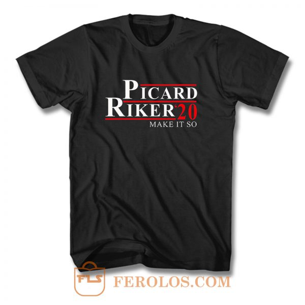 Picard Riker 20 Make It So T Shirt