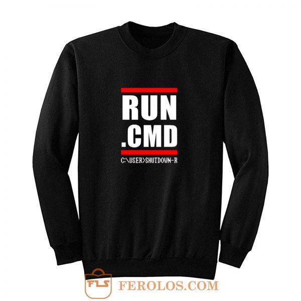 RUN CMD Computer Programmer Sweatshirt
