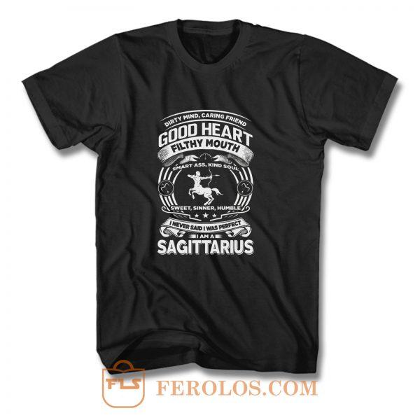 Sagitarius Good Heart Filthy Mount T Shirt