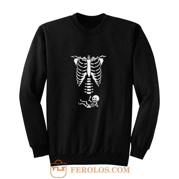 Schwangerschaft Baby Skelett Sweatshirt