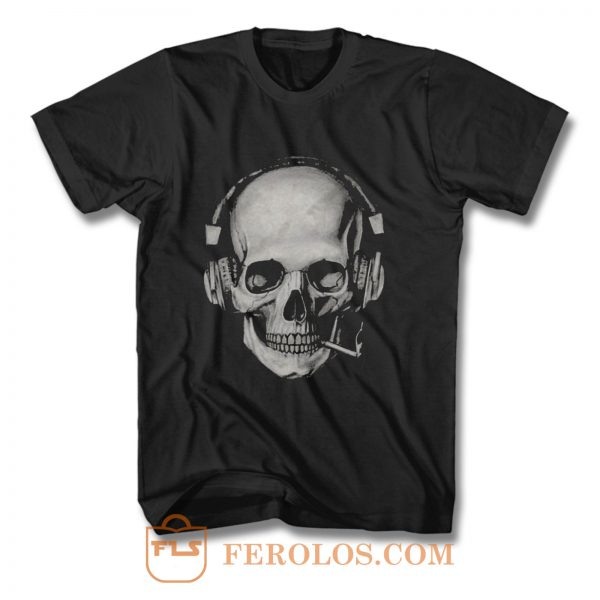 Smoking Skull T Shirt