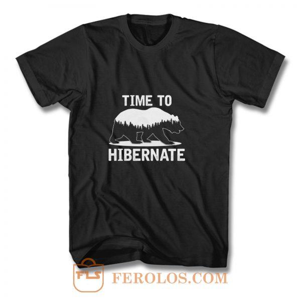 Time To Hibernate Beer T Shirt